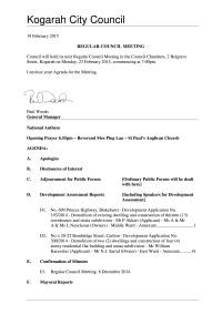 Agenda - Regular Council Minutes