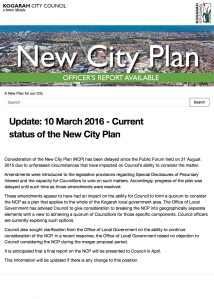 Update: 10 March 2016 - Current status of the New City Plan | A New Plan for our City | Kogarah New