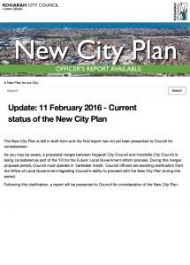 Update: 11 February 2016 - Current status of the New City Plan | A New Plan for our City | Kogarah N